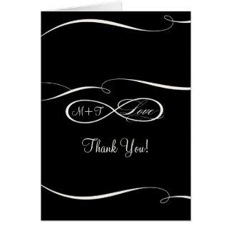 Gracias infinitas del boda del amor de la muestra  tarjeta de felicitación