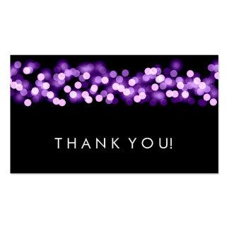 Gracias insertar el encanto púrpura de Hollywood Tarjetas De Visita