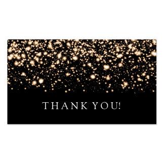 Gracias insertar encanto de medianoche del oro tarjetas de visita