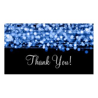Gracias insertar las chispas del fiesta azules tarjetas de visita