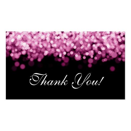 Gracias insertar luces rosadas tarjetas de visita