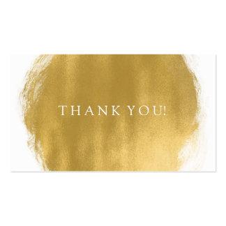 Gracias insertar mirada de la pintura del oro tarjetas de visita