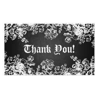 Gracias insertar negro del Flourish del Victorian Tarjetas De Visita