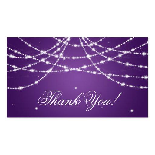 Gracias insertar púrpura chispeante de la tarjeta de visita