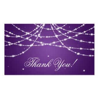 Gracias insertar púrpura chispeante de la tarjetas de visita