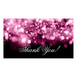 Gracias insertar rosa chispeante de las luces tarjetas de visita