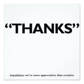 """¡Gracias! Invitación 5.25"""" X 5.25"""""""