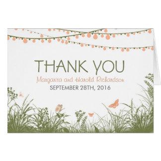 Gracias invitación de boda con las flores salvajes felicitación