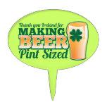 Gracias Irlanda por hacer la pinta de la cerveza c Figuras De Tarta