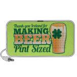 Gracias Irlanda por hacer la pinta de la cerveza c iPod Altavoces
