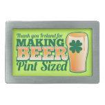 Gracias Irlanda por hacer la pinta de la cerveza c Hebillas Cinturon