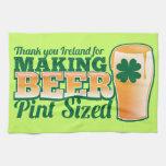 Gracias Irlanda por hacer la pinta de la cerveza c Toallas De Cocina