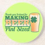 Gracias Irlanda por hacer la pinta de la cerveza c Posavasos Personalizados