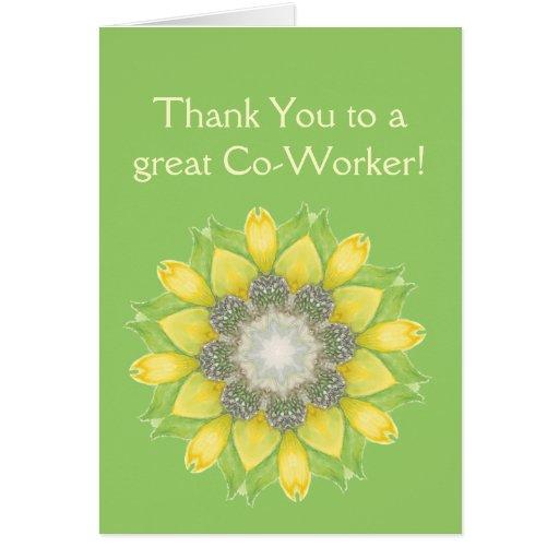 Gracias jardín de flores de encargo del compañero  tarjeta de felicitación