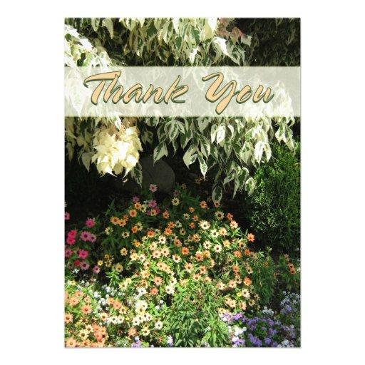 Gracias jardín de flores invitacion personalizada