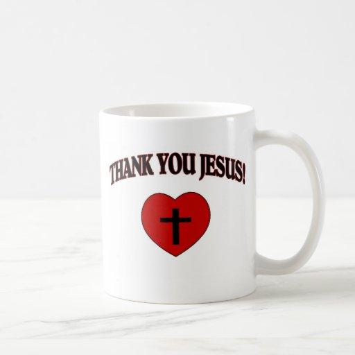 Gracias Jesús (el corazón) Taza De Café