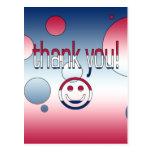 ¡Gracias! La bandera de América colorea arte pop Postal