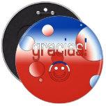 ¡Gracias! La bandera de Chile colorea arte pop Pins