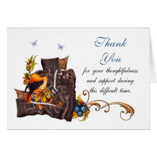 Gracias la condolencia, pérdida de militar tarjeta de felicitación