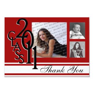 Gracias la graduación 2011 invitación 8,9 x 12,7 cm