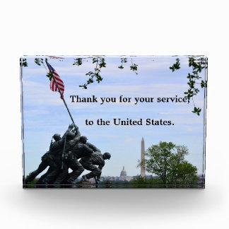 Gracias la placa de Estados Unidos (para el servic