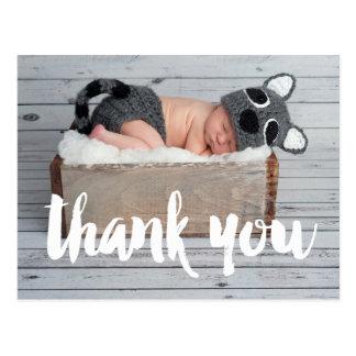 Gracias la postal de la invitación del nacimiento