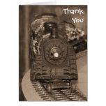 Gracias la tarjeta modelo del tren