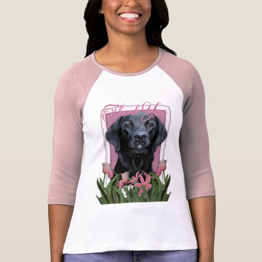 Gracias - Labrador - negro - indicador Camisetas