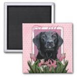 Gracias - Labrador - negro - indicador Imán De Frigorífico