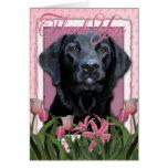 Gracias - Labrador - negro - indicador Felicitaciones