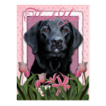 Gracias - Labrador - negro - indicador Tarjeta Postal