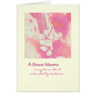 Gracias - las floraciones de la flor felicitación