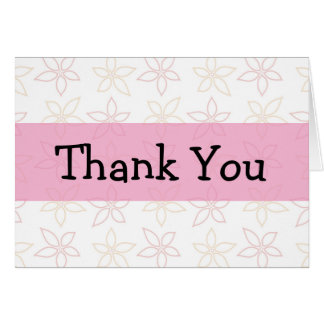 Gracias las flores dibujadas tarjeta de felicitación