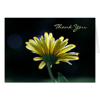 Gracias las flores hermosas de la margarita tarjeta pequeña