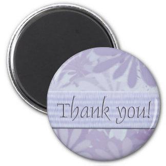 Gracias/las flores púrpuras imán de nevera
