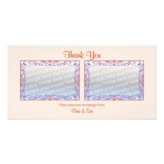 Gracias las fotos del melocotón 2 tarjeta fotografica personalizada