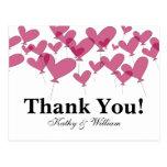 Gracias las invitaciones de boda con los globos ro postal