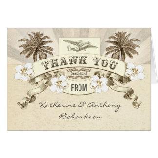 gracias las invitaciones de boda del destino tarjeton