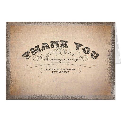 gracias las invitaciones de boda tipográficas del tarjeta de felicitación