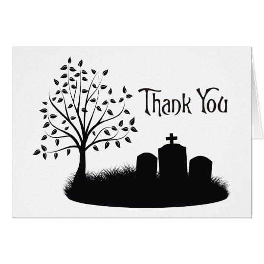 Gracias las lápidas mortuorias del cementerio tarjeta de felicitación