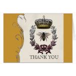 Gracias las notas - boda real de la abeja reina tarjetón