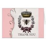 Gracias las notas - boda real de la abeja reina tarjeta