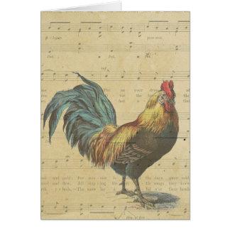 Gracias las notas de la partitura del gallo del vi tarjeta pequeña