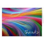 Gracias las notas en diseño colorido tarjeta pequeña