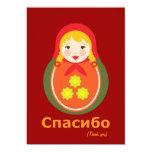 Gracias las notas - ruso invitación 12,7 x 17,8 cm