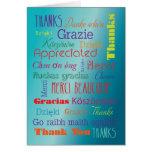Gracias las palabras del idioma extranjero felicitaciones