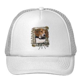 Gracias - las patas de piedra - beagle gorros bordados