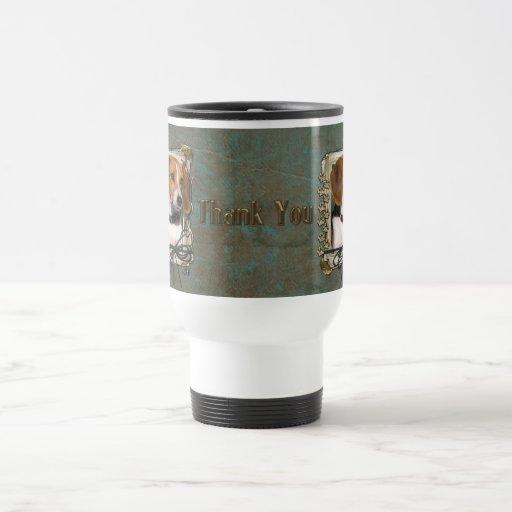 Gracias - las patas de piedra - beagle tazas de café