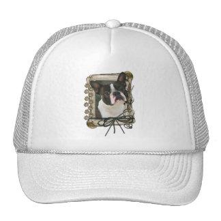 Gracias - las patas de piedra - Boston Terrier Gorras De Camionero