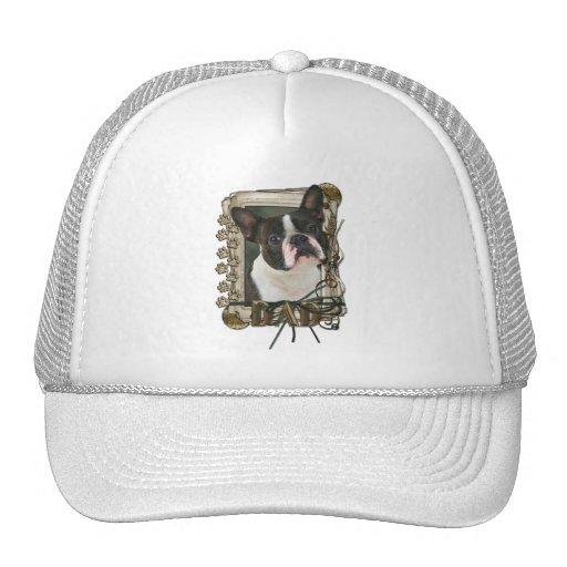 Gracias - las patas de piedra - Boston Terrier - p Gorro De Camionero